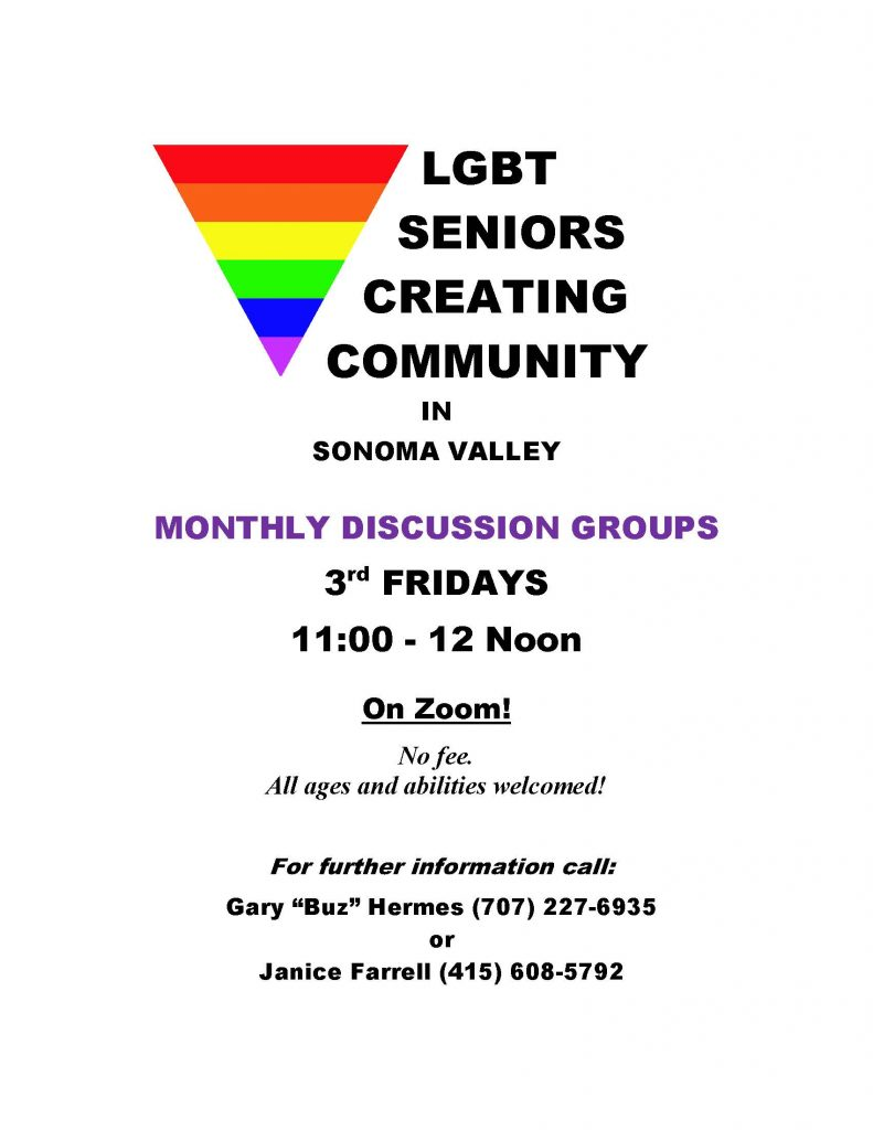 LGBT Discussion Group Zoom Flyer